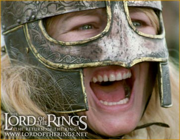 Eowyn in battle gear