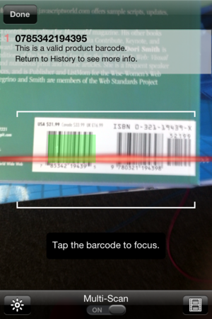 Wrong Barcode