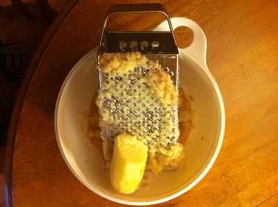 Grating the Potatoes and Onions