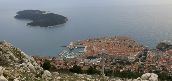 Dubrovnik from Mt Srdj