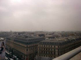 Smoggy Paris Cityscape