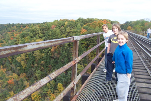 Boys on Bridge